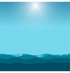 Clean blue sky over the ocean background vector image vector image
