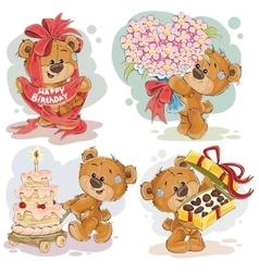 Clip art of teddy bear wishes you a vector image vector image