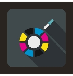 Color picker icon flat style vector