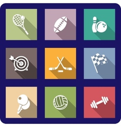 Colorful flat sporting icons vector image