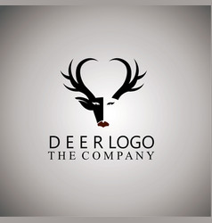 Deer logo ideas design vector