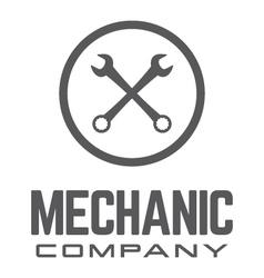 Generic wrench logo vector