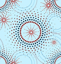 Geometric pattern of circles seamless vector
