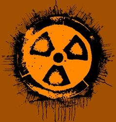 grunge radioactivity warning sign vector image vector image