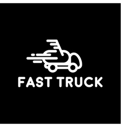 Hurtling truck speed linear style with the loop vector image