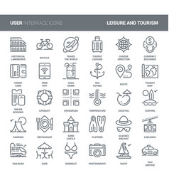 Leisure and tourism icons vector