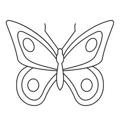 Lovely butterfly icon outline style vector