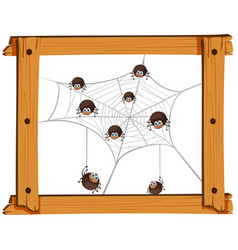 Many spiders on the web vector