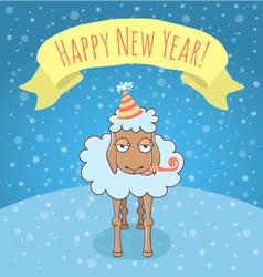 New Year lamb vector image vector image