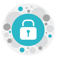 of internet symbol on padlock vector image vector image