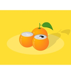 orange can vector image