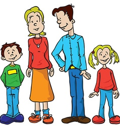 Parents and kids vector