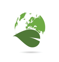 planet earth green with plant vector image