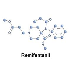 Remifentanil opioid analgesic drug vector image vector image