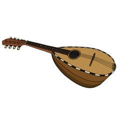 retro italy mandolin vector image