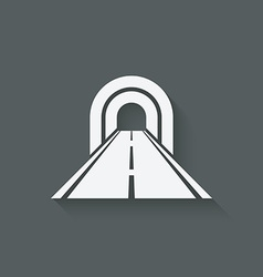 road through tunnel symbol vector image