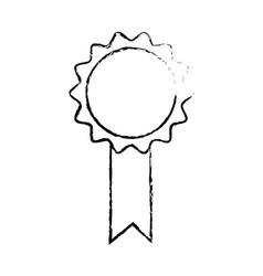rosette premium quality winner certificate sketch vector image