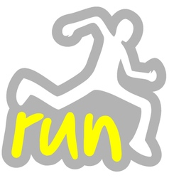run symbol vector image