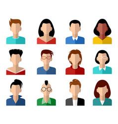 sixteen avatars set vector image vector image
