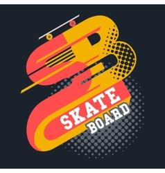 Skateboard t-shirt lettering vector