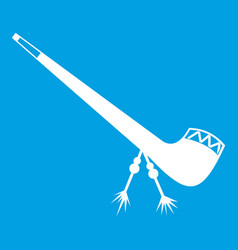 Smoking pipe icon white vector