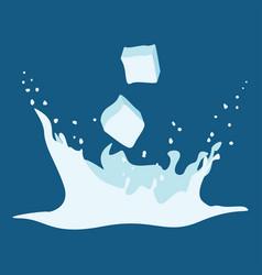 splash of ice water vector image