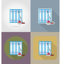 sport flat icons 73 vector image