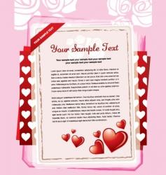valentine letter vector image