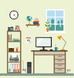 workspace im room vector image