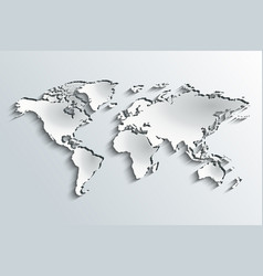 world map in peeling paper vector image vector image