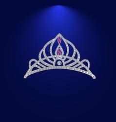 tiara with precious stones 1 vector image