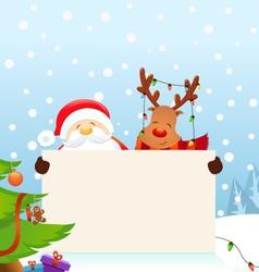 Reindeer Santa Message vector image