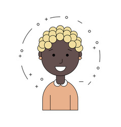 black woman face african american girl avatar vector image