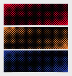 Abstract halftone square pattern banner template vector