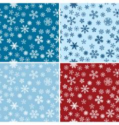 Snow seamless backgrounds set vector