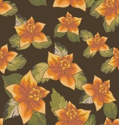 Seamless patterns with flowers vector