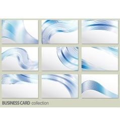 business card set elements for design vector image