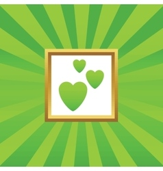 Love picture icon vector