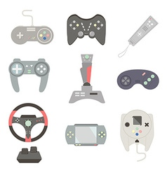 Game joystick and controller set various devices vector