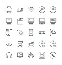 Multimedia cool icons 1 vector