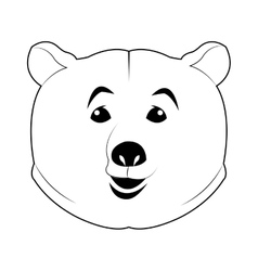 Face of bear icon vector
