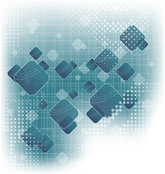 Abstract squares blank blue background vector image vector image