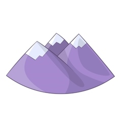 Alps mountain icon cartoon style vector