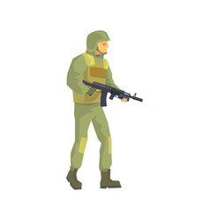 Army soldier men in camouflage combat uniform vector