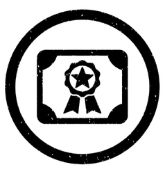 Award diploma rounded grainy icon vector
