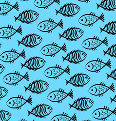 background of fish vector image