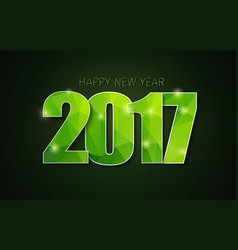 banner template background happy new year 2017 vector image