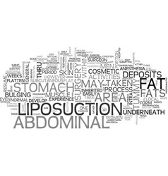 Be comfortable on a flat tummy text word cloud vector