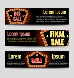 Big sale horizontal banners vector
