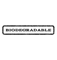 Biodegradable watermark stamp vector